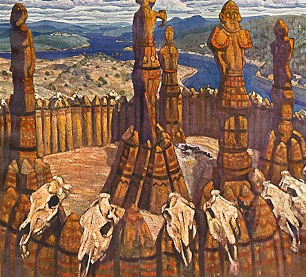 "Nicholas Roerich, ""The Idols of Ancient Russia"" (1910)"