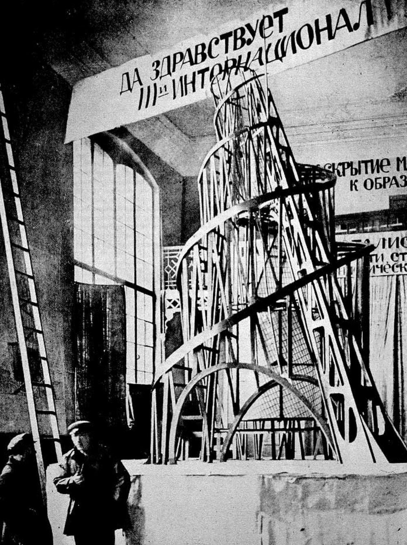 """Vladimir Tatlin, """"Model for the Monument to the Third International"""" (1920)"""