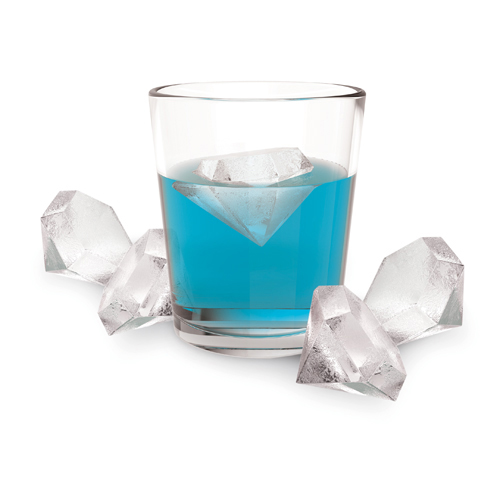 DESCRIPTION Enjoy a fancy drink with this 6 karat ice cube tray. Perfect for parties, these diamonds will do well under pressure and leave your guests refreshingly entertained. Get yours quick, these diamonds aren't forever!