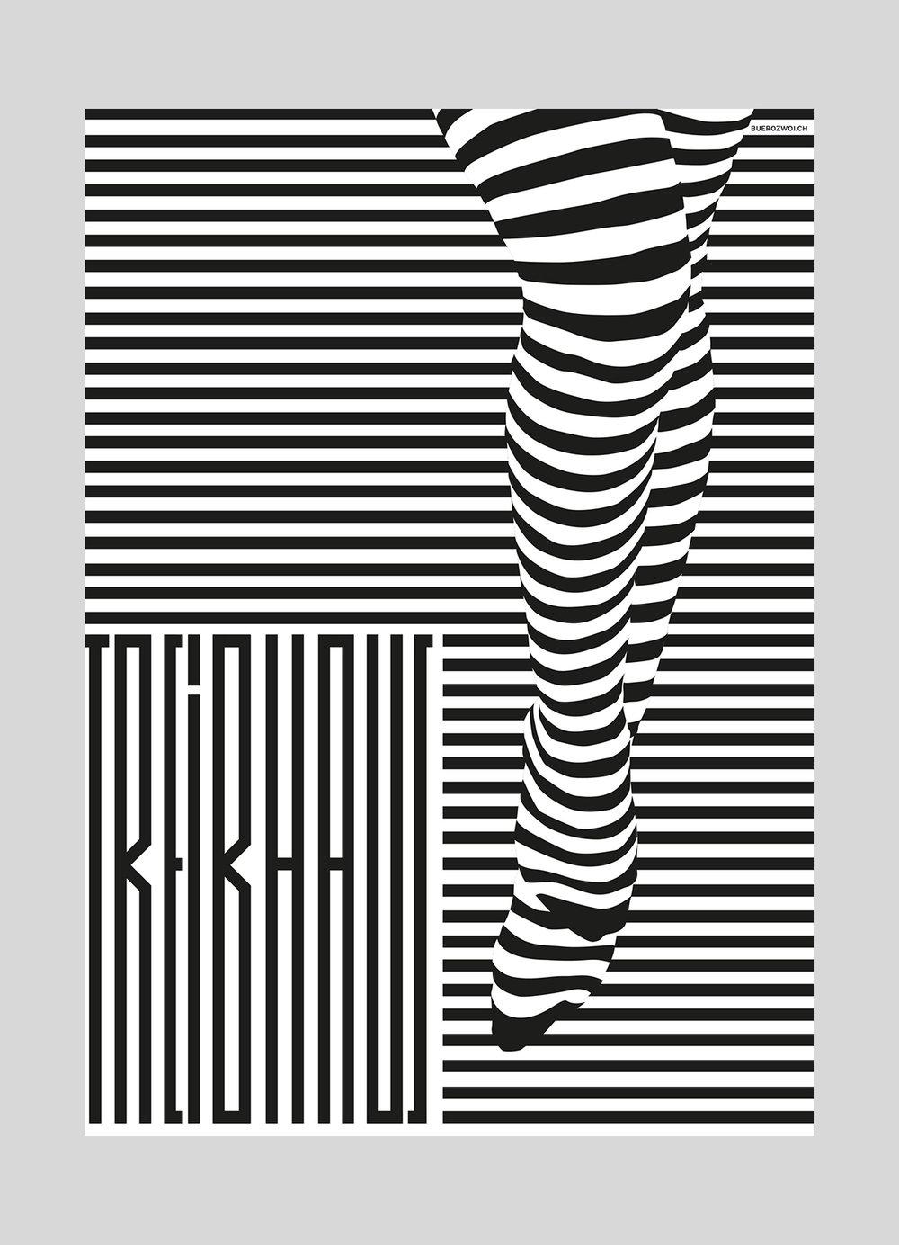 Treibhaus Luzern – Monatsplakat Juni |2016  Jugendhaus Luzern, Plakate jeweils von verschiedenen Grafikern gestaltet.