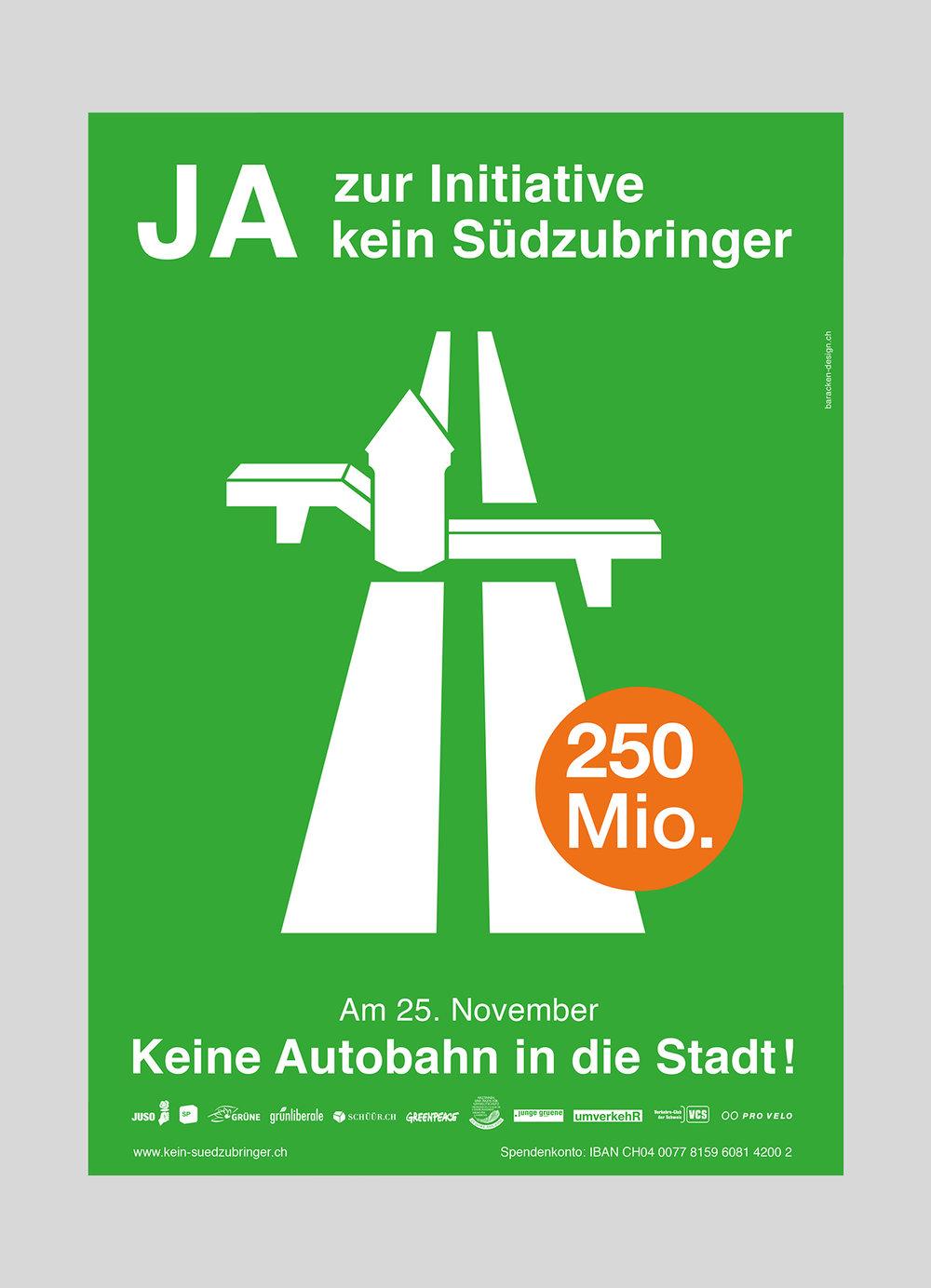 JUSO Stadt Luzern – Kein Südzubringer  |2012  Volksinitiative der JUSO Stadt Luzern gegen die geplante Autobahneinfahrt «Südzubringer»