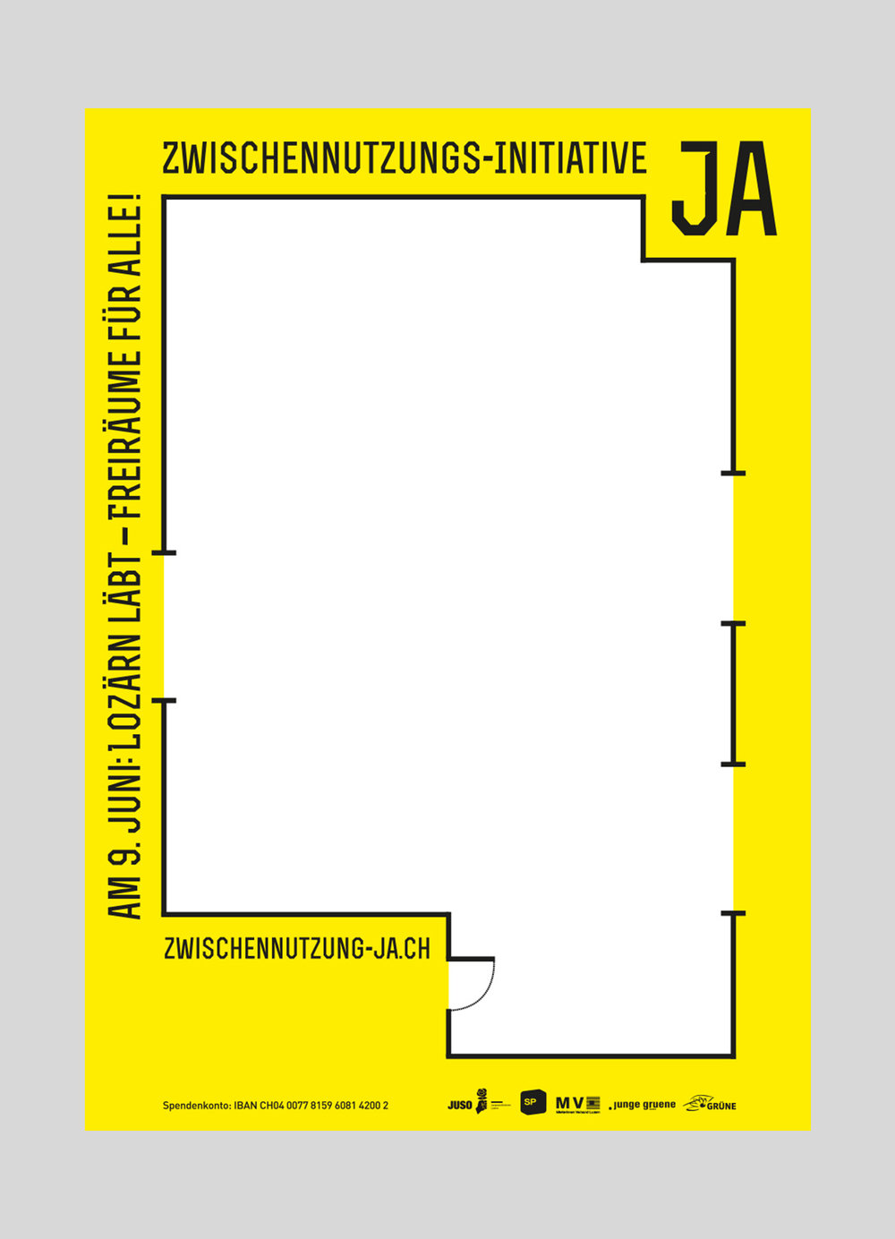 JUSO Stadt Luzern –   Zwischennutzungsinitiative   | 2013   Volksinitiative der JUSO Stadt Luzern für mehr Zwischennutzungen und Kulturelle Freiräume.