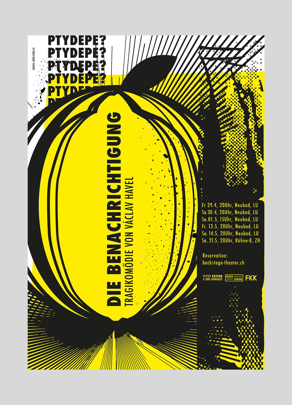 Fetter Vetter – Die Benachrichtigung | 2016  Damian Dlaboha und Bela Rothenbühler mit Team, Theater aufgeführt in Luzern und Zürich.