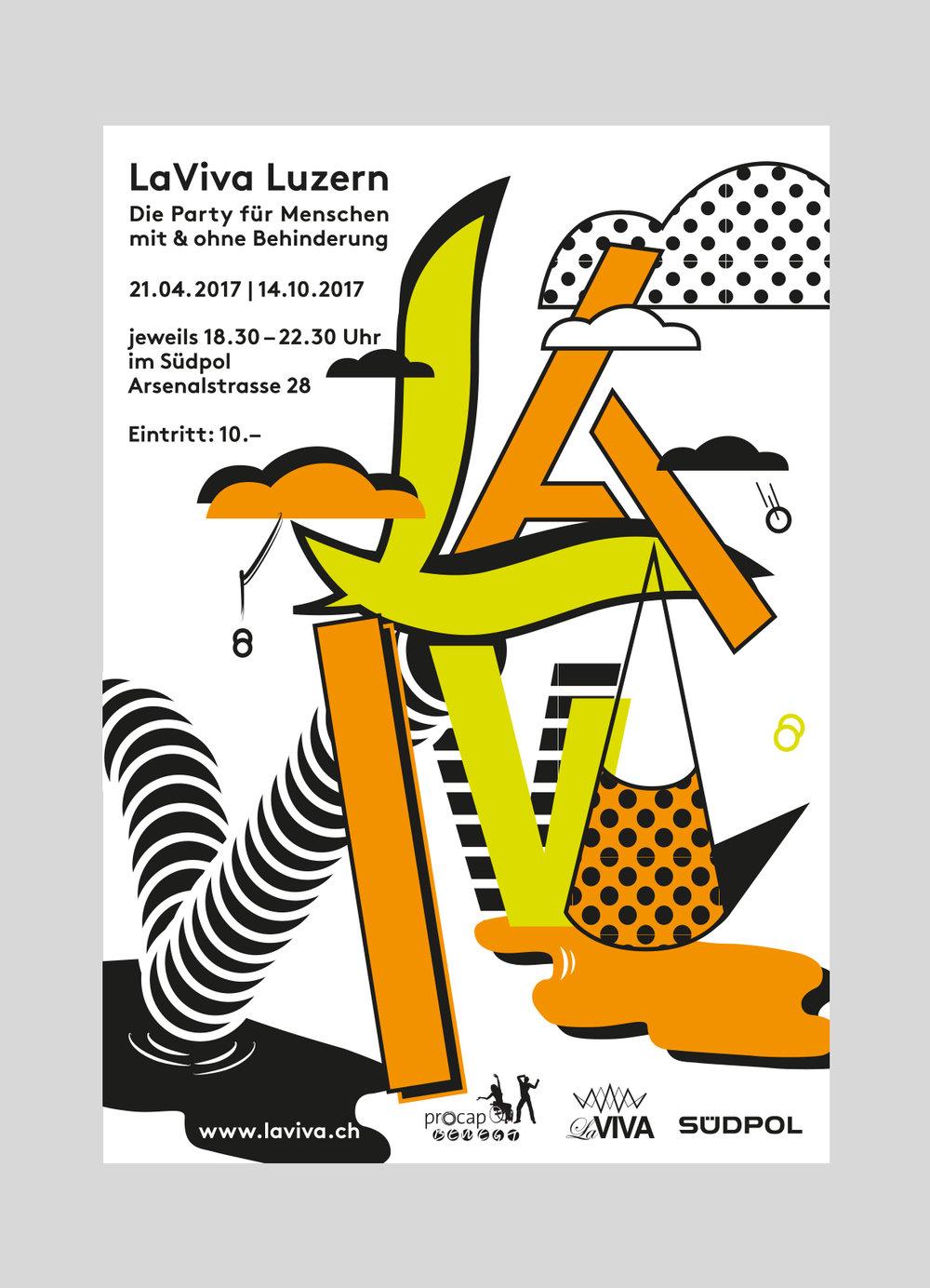 procap – LaViva  Eine mehrmals jährlich stattfindende Partyreihe für Menschen mit und ohne Behinderung.