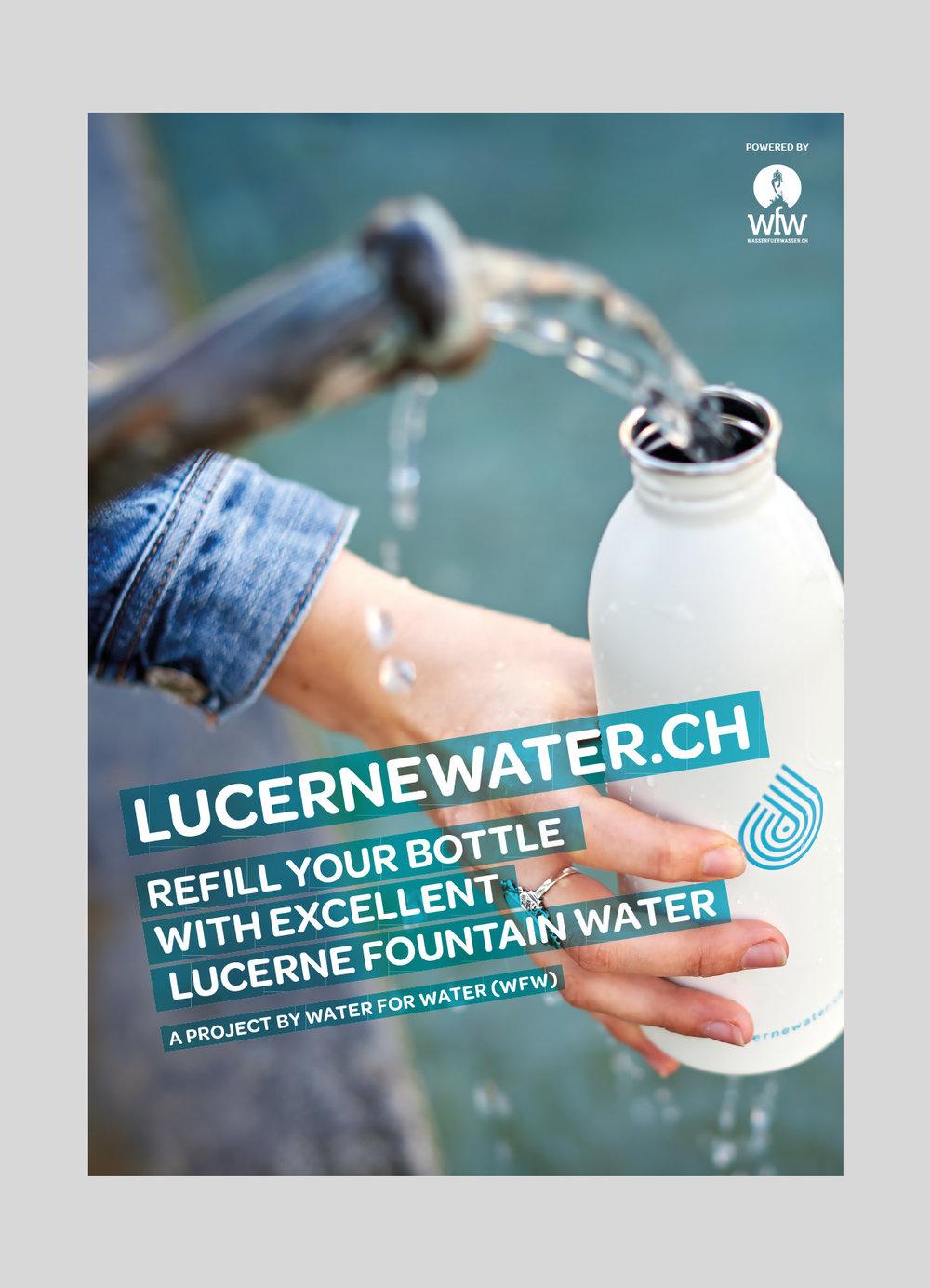 Wasser für Wasser (WfW)–  lucernewater  | 2017  Brunnenguide und Informationen der Stadt Luzern und WfW.