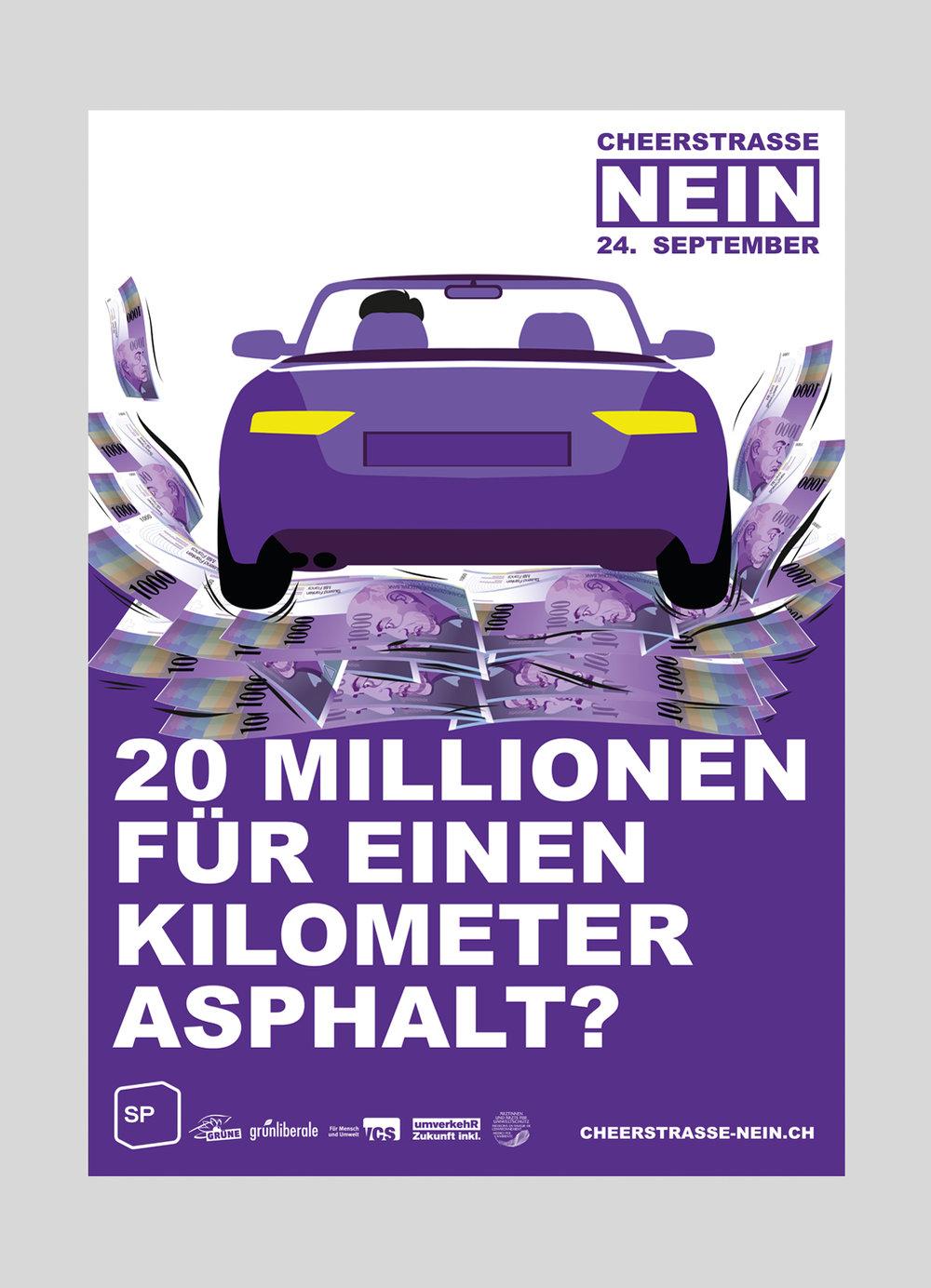 SP Stadt Luzern – Nein zur Cheerstrasse | 2017  Politische Kampagne für eine Abstimmung in der Stadt Luzern.