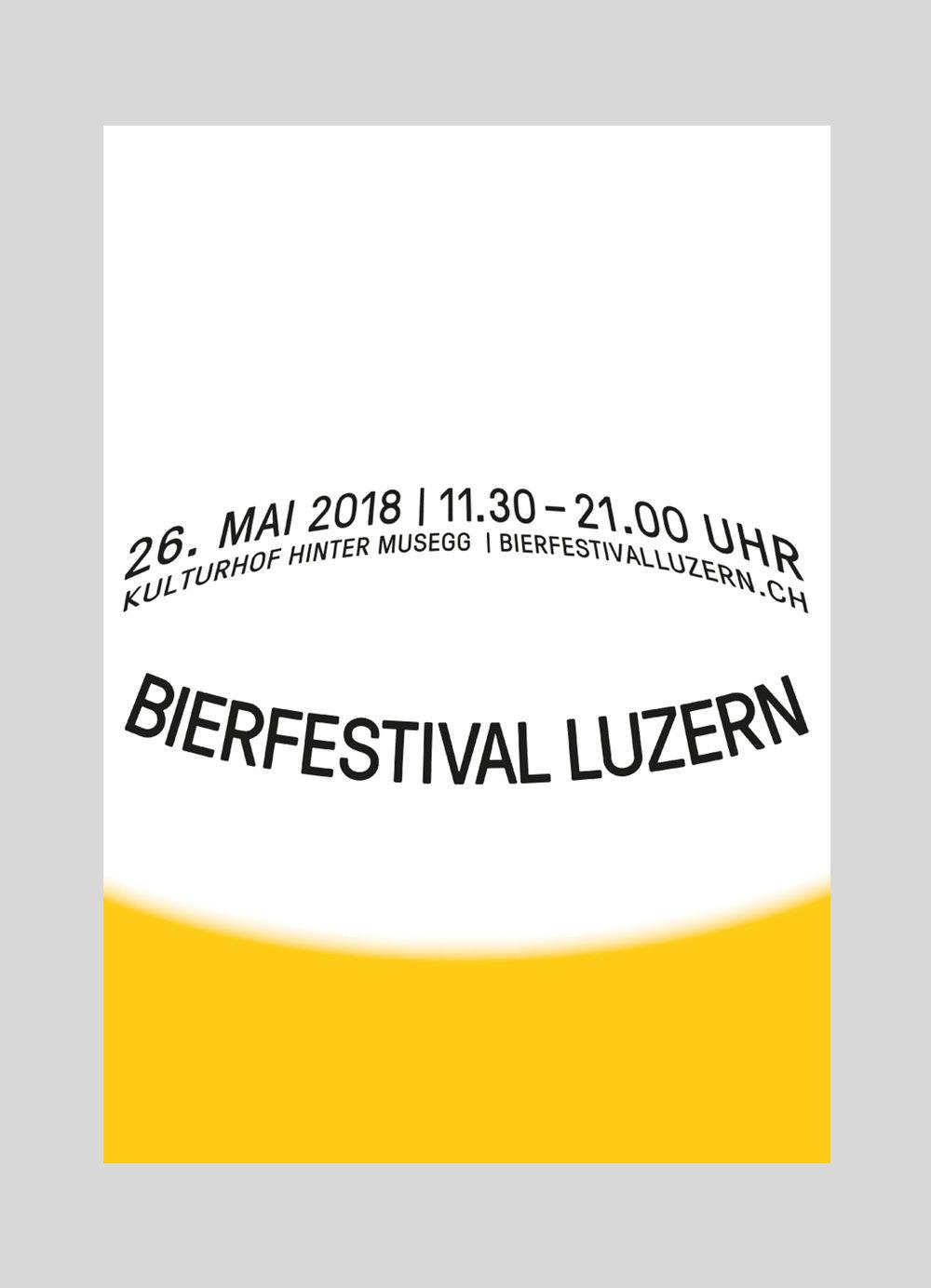 Verein zu Förderung der Bierkultur –  Bierfestival 2018  | 2018  Kampagne für das Bierfestival 2018 auf dem Bramberg (LU).