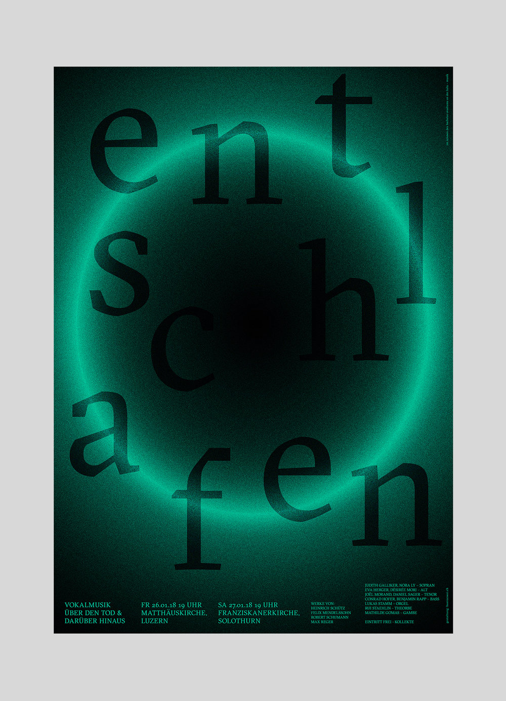 Nora Ly –entschlafen | 2017  Bachelor Abschlusskonzert in der Matthäuskirche Luzern.