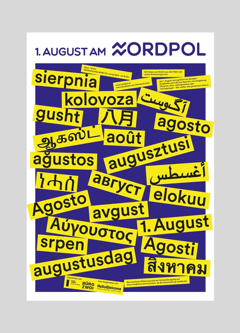 Nordpol – 1. August | 2018  Die sommerbar Nordpol in Luzern lud am ersten August zum offenes Quartierfest für jung und alt.