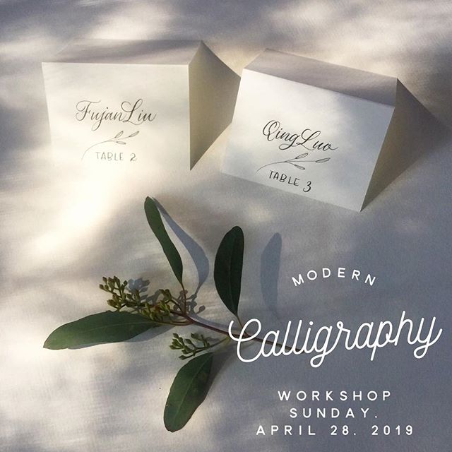 Come join us for our Modern Calligraphy Workshop at the SoFa Market in San Jose, CA on Sunday, April 28, 2019!! You'll leave a Mother's Day card. Check out our link for more information. #calligraphyclass  #calligraphyworkshop #bayarea #moderncalligraphy #calligraphy #sanjosecalligrapher #bayareacalligrapher