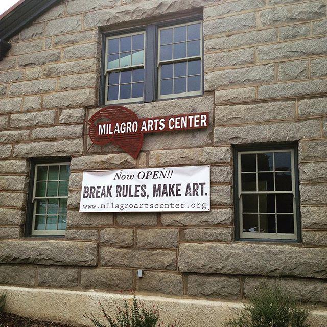 Our new banner! #breakrulesmakeart #milagroartscenter