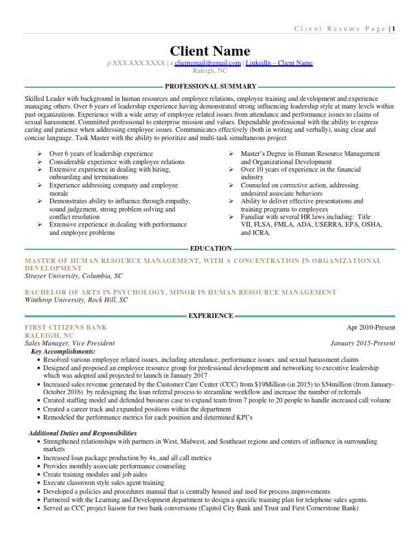 Finance/Banking Final Resume 1/2