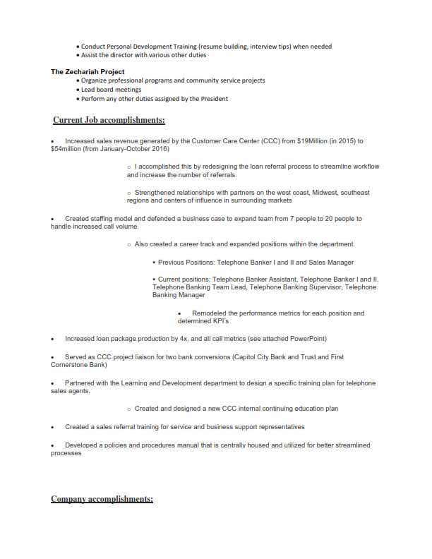 Finance/Banking Original Resume 2