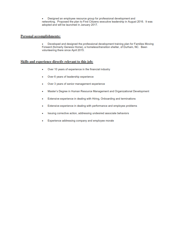 Finance/Banking Original Resume 3