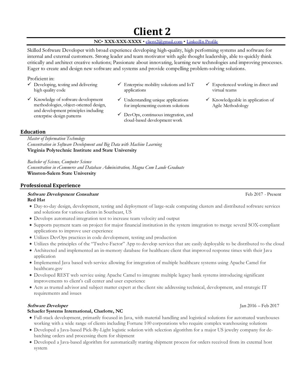 Information Technology Final Resume 1/2