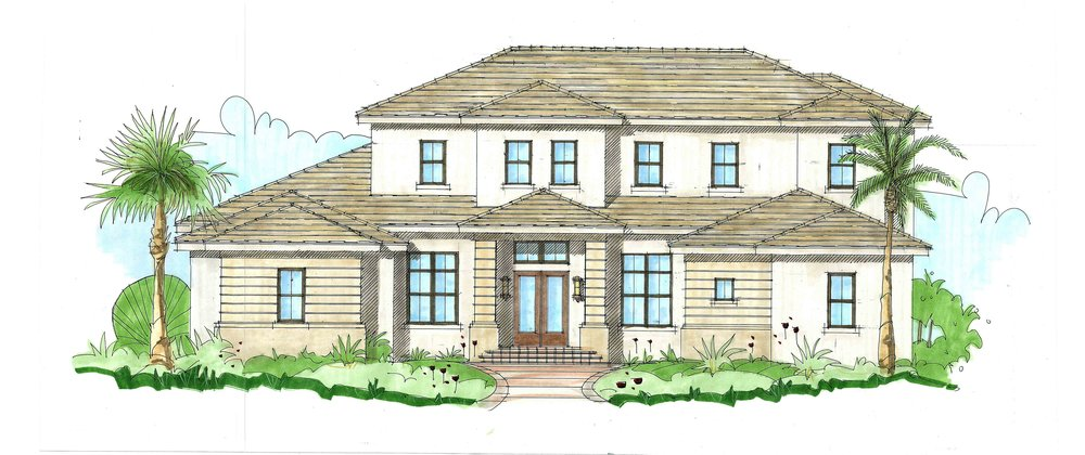 Levante II 5 bed | 5 & 1 1/2 bath | 4 car garage 6,528 sq. ft.