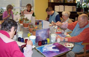 Elderwise Adult Day Program Group Painting