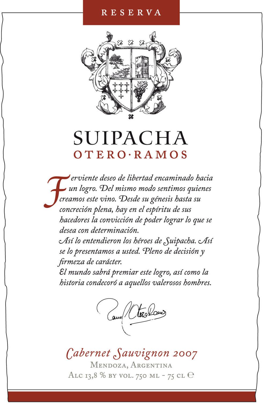 SUIPACHA 2007 Cabernet Sauvignon