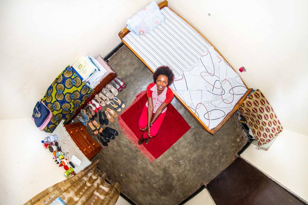 Kigali, Rwanda: Josee, a 22-year-old accounting student.