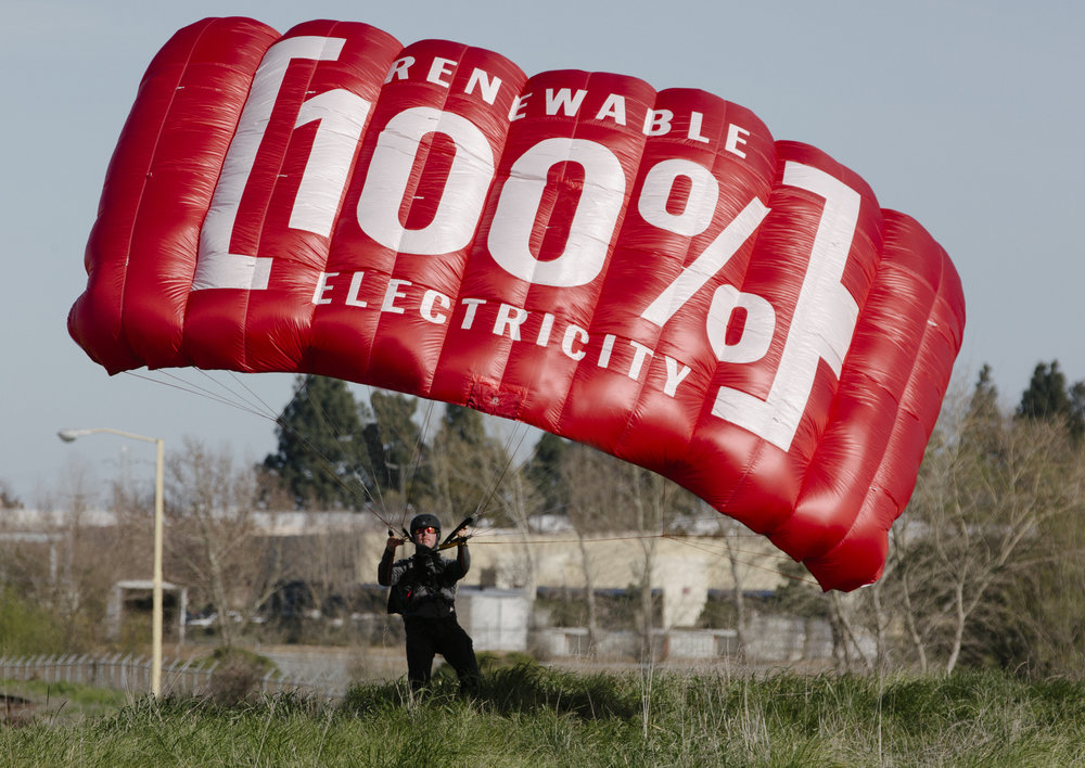 budweiser goes 100 renewable with a base jump on world earth day