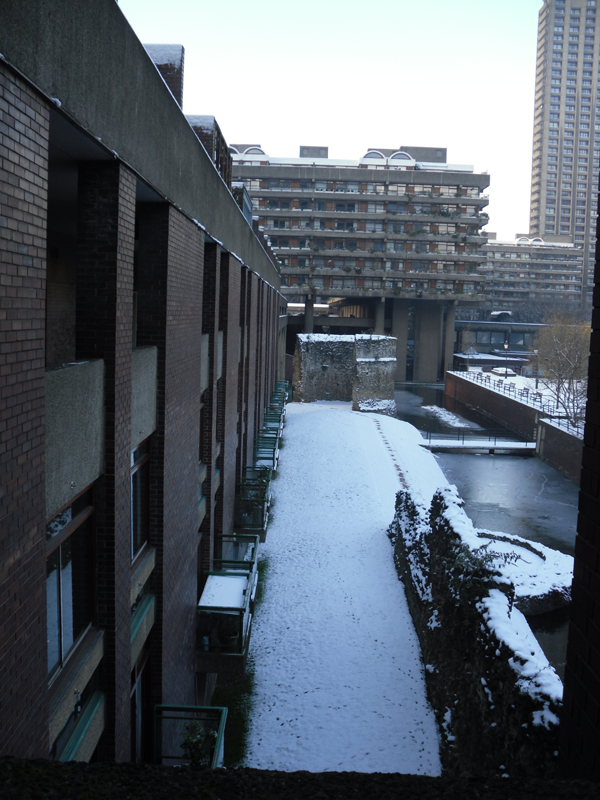 The Barbican viewed from a staircase
