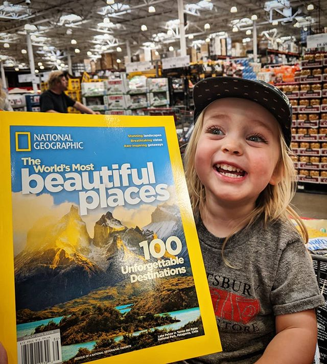 Cameron's nephew Miles was pretty psyched to find Torres del Paine on National Geographic too :) One of our most memorable days...
