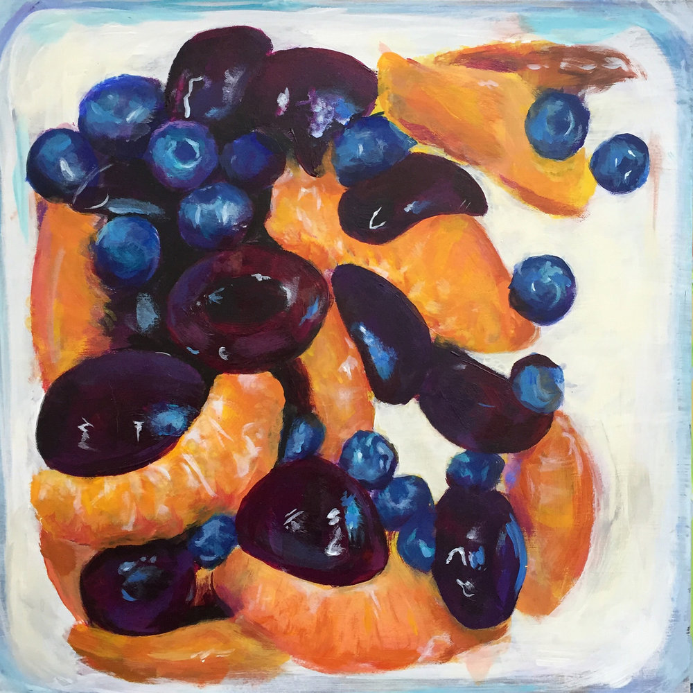 Cherries, Peaches and Blueberries