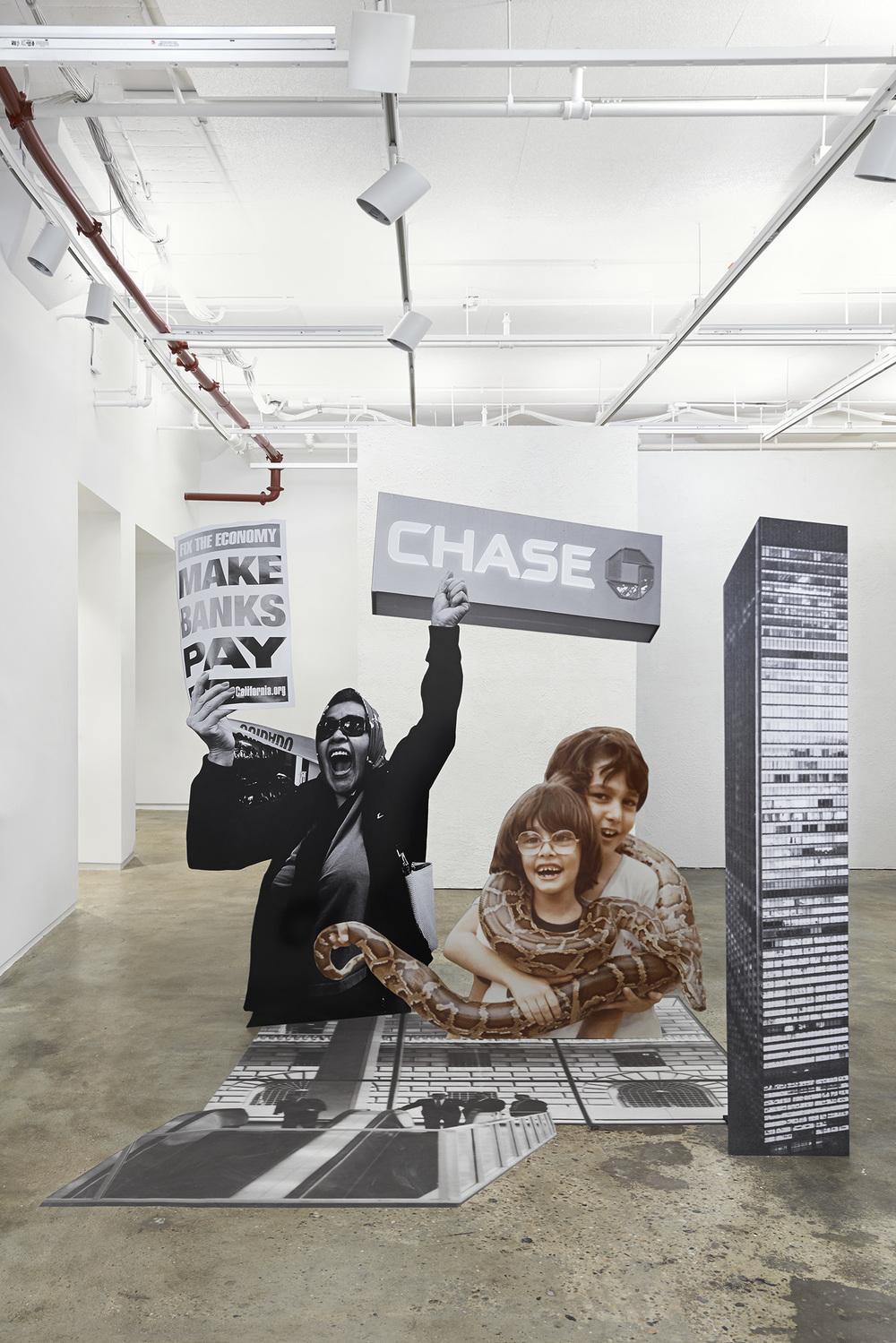 Chase Manhattan Plaza, Protester, Sara, Cyrus and Python,