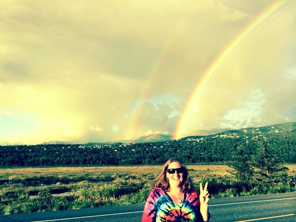 Double rainbow near Anchorage, Alaska
