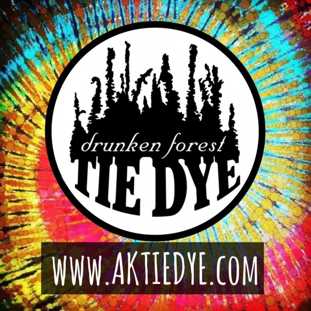 drunken forest tie dye sticker