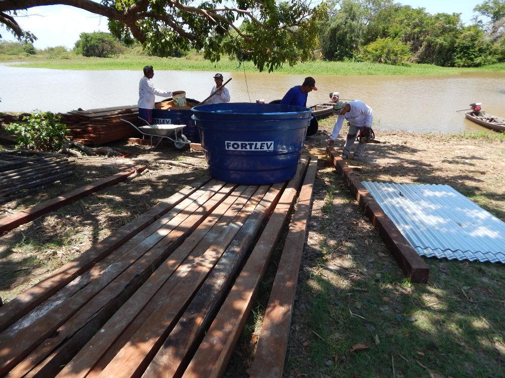 Comunidade Campos do Urucurituba: capacitação em técnicas de construção e manutenção de sistemas de captação de água de chuva