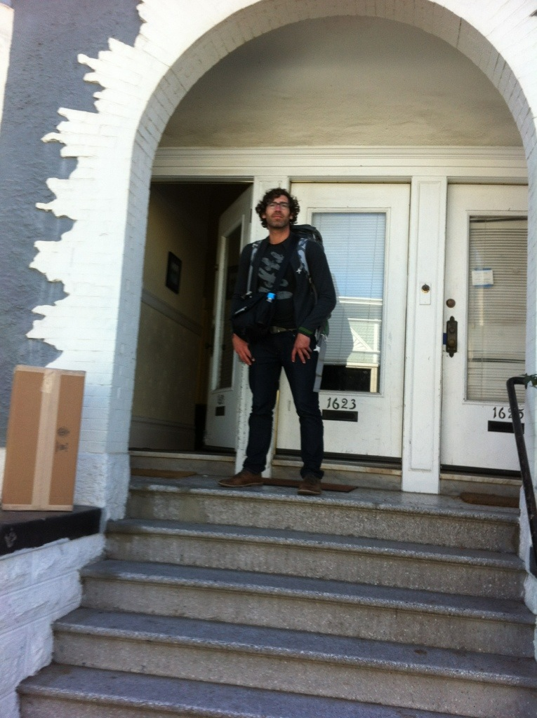 In front of my house in SF, just before departure