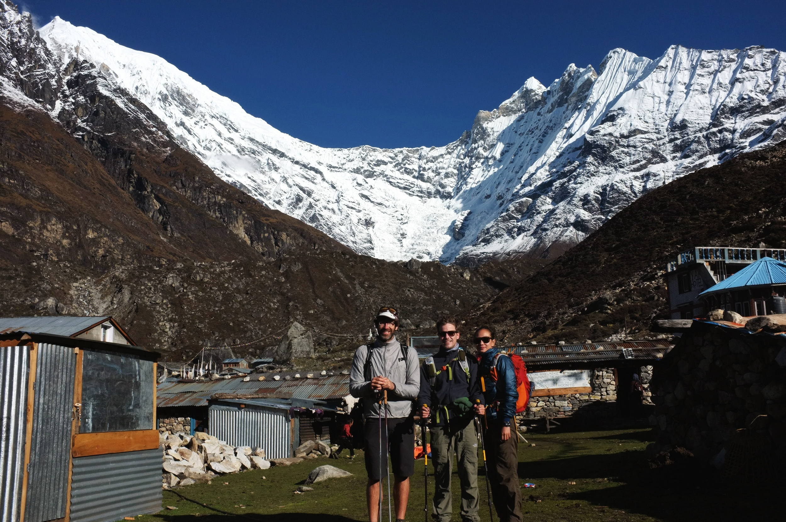 23,000 ft (7,246m) Langtang Lirung in the background, officially the tallest mountain I've laid eyes on.