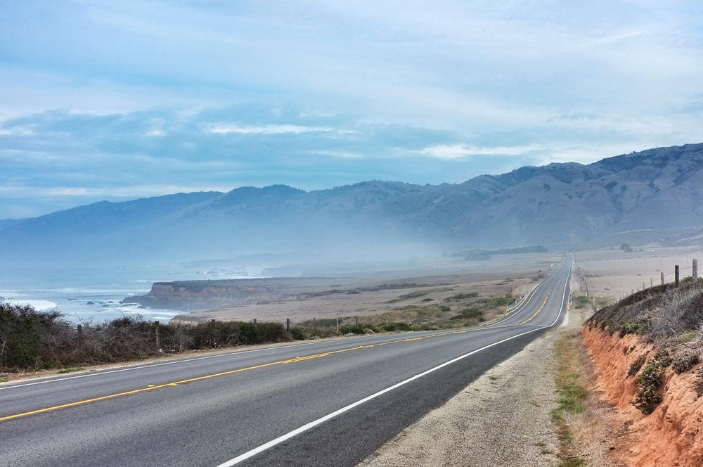 The Southern edge of Big Sur, North of San Simean.
