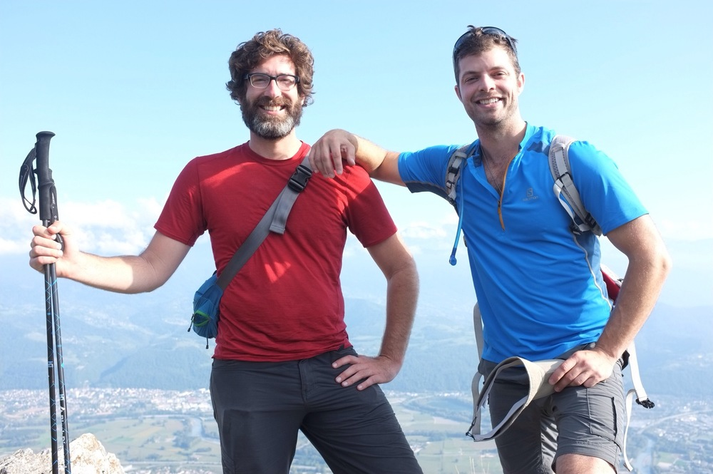Rob and I at the top.