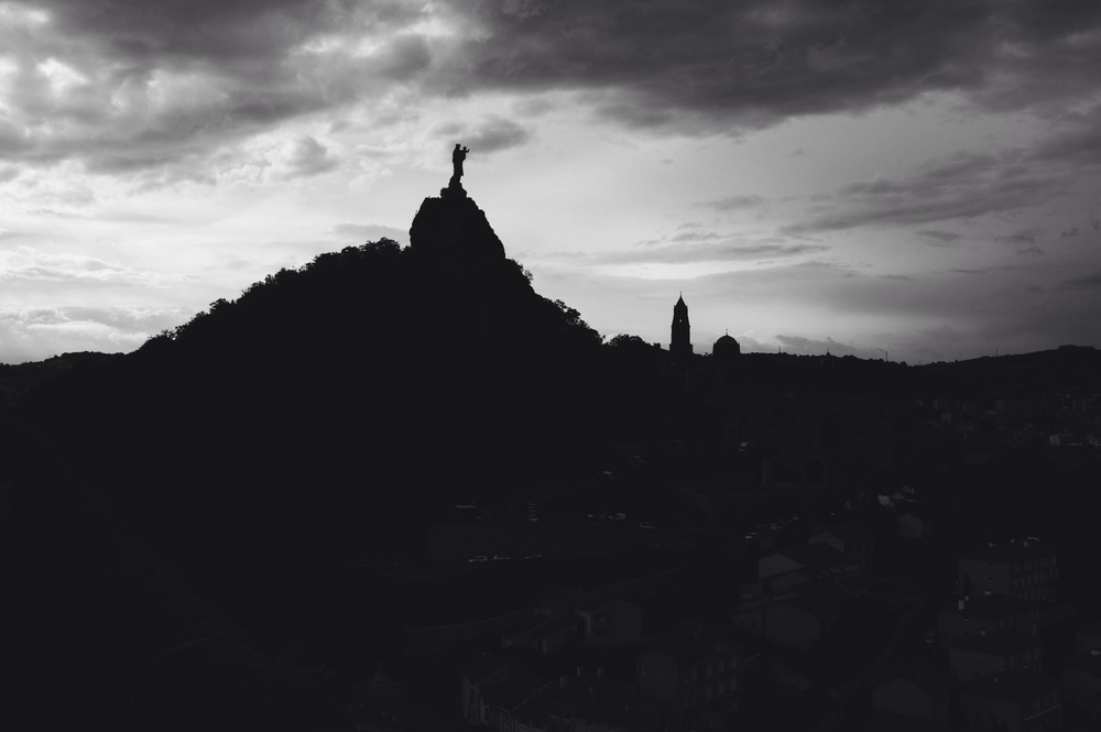 The view back onto the Le Puy Cathedral.