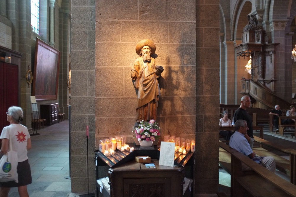 Every morning pilgrims are blessed under this statue of Saint James in the big cathedral. Last year something like 14,000 people walked a portion of this route. Compare that to the roughly 200,000 that walked part of the Camino Frances last year.