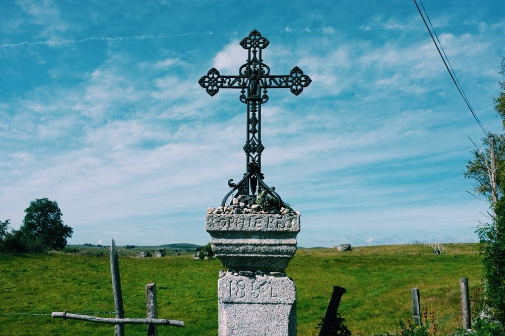 Crosses like these, along with stone ones, are scattered all along the route. Often people place things at the bottom of these like little stones or other tokens like pictures of loved ones or payers written on scraps of paper.