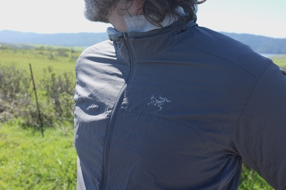 Great fit on the Arc'teryx, but I'm missing that chest pocket