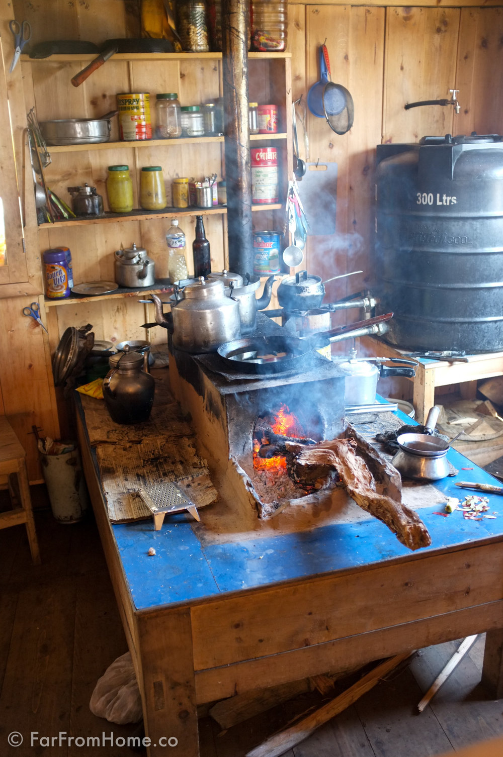 A lot of people use wood-fired stoves for cooking
