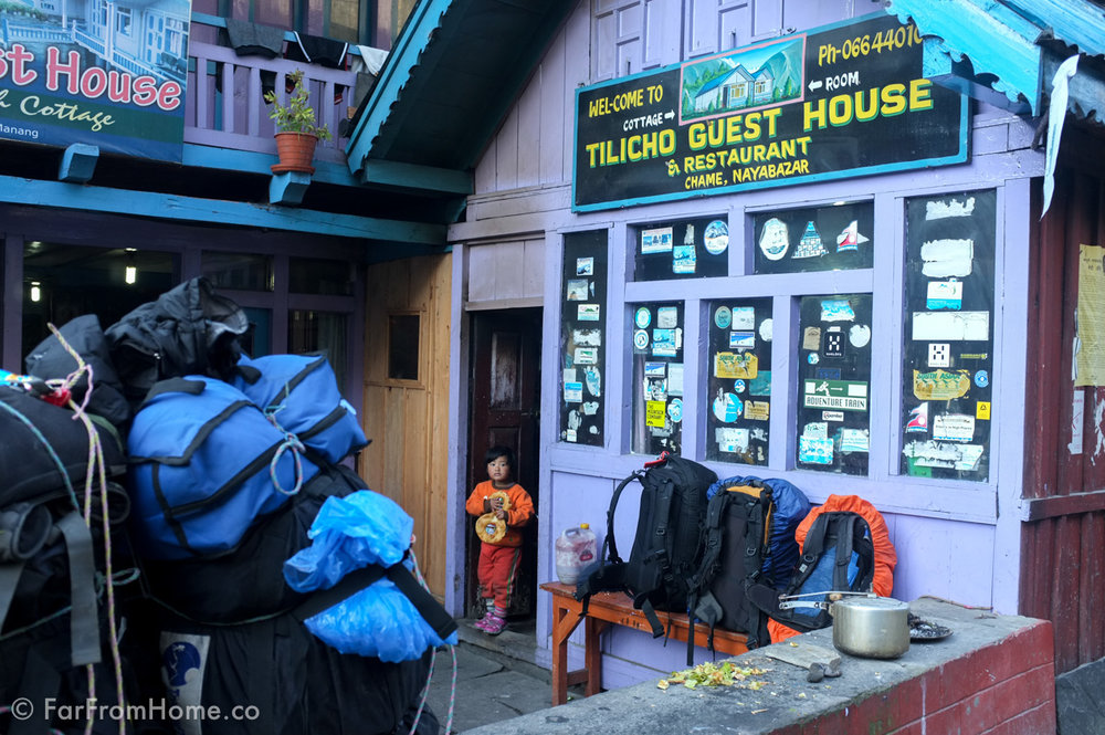 A typical teahouse where trekkers eat and stay the night