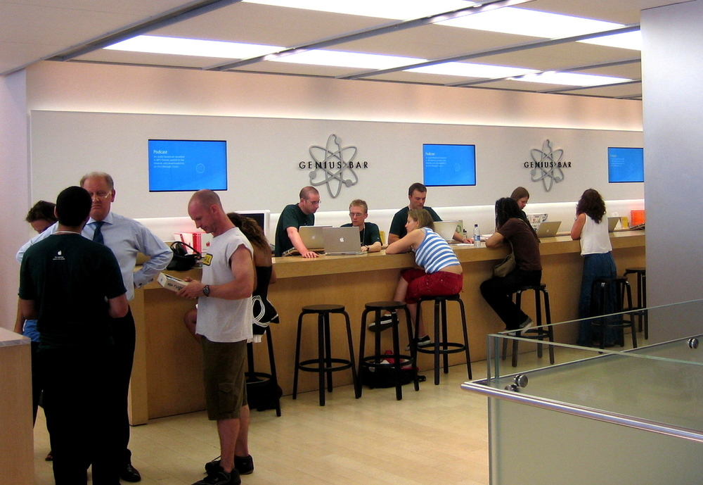 Customers being helped