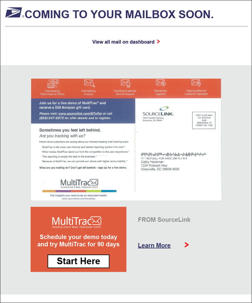 informed delivery - MultiTrac