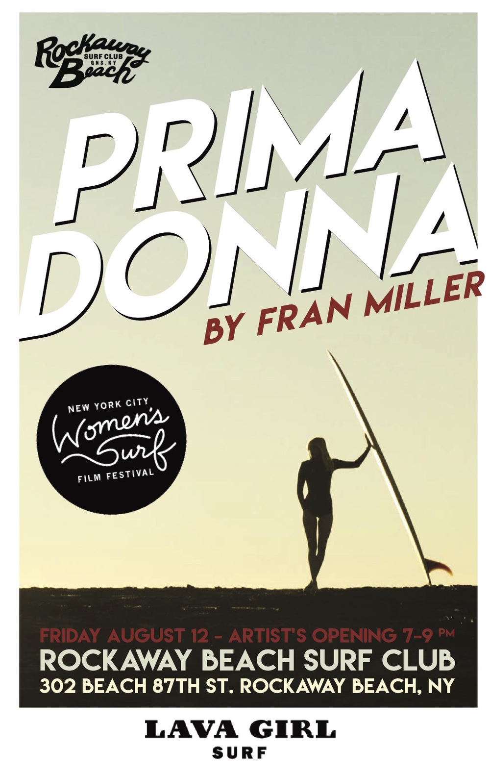 fran miller prima donna lava girl surf nyc womens surf film festival