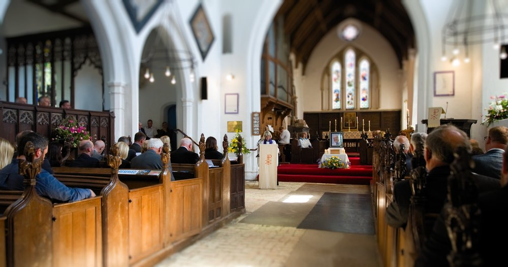 Suffolk & Ipswich Funeral Videographer St Mary & St Peter's Church, Barham - 15th May 2018
