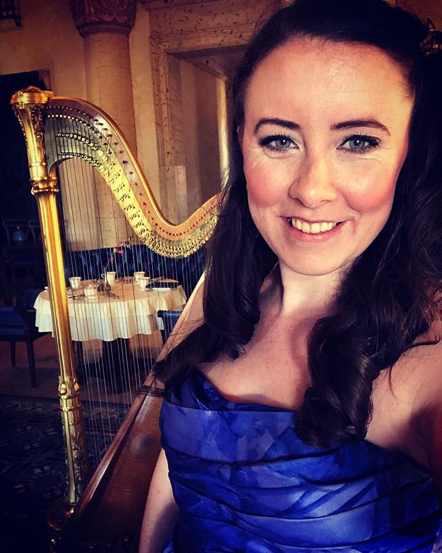 Afternoon tea at the @biltmorehotel in #miami from 2-5 ☀️☕️ live streaming on Facebook 👍🏻 #livemusic #miamimusic #harp #biltmorehotel