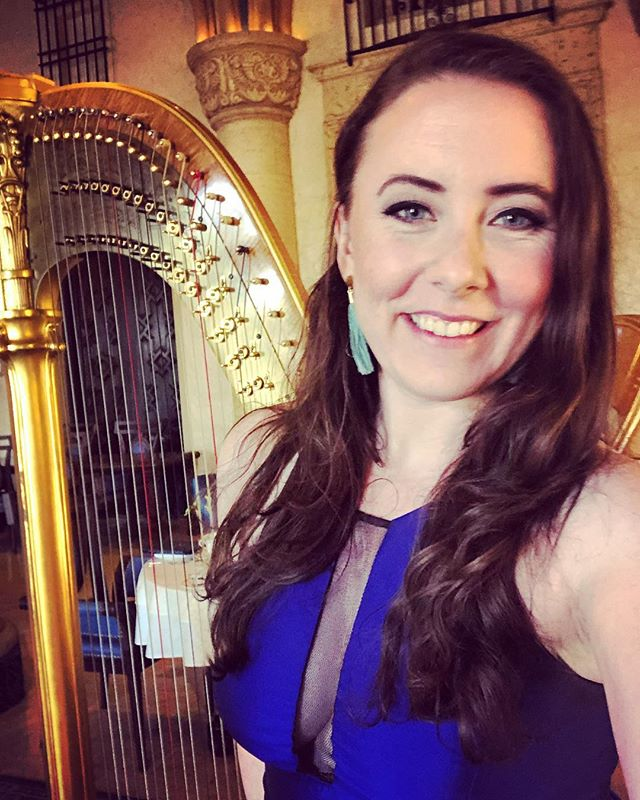 @biltmorehotel for #afternoontea today 2-5 ☕️ live streaming on Facebook 🎶🌴☀️ #miamimusic #biltmorehotel #miami #harp
