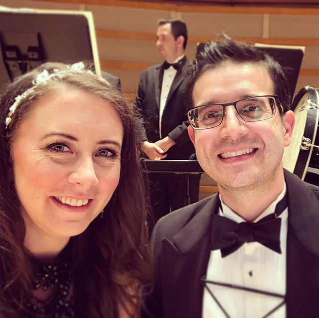 @miamisymphony concerts at the @arshtcenter are ALWAYS more fun when @dannelophone is there 🥰🥰🥰 #thecouplewhoplaystogether #staystogether #music #miamimusic #orchestra #saxophone #harp