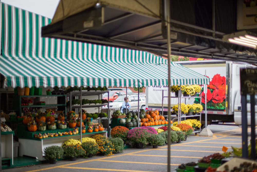 MONTREAL, QUEBEC - SEPTEMBER 28th 2018: Other farmers flock in early in the morning to set up their individual booths at Atwater market, Montreal, on September 27th. (Photo by Matteo Gueli / Dawson College Photojournalism Class)