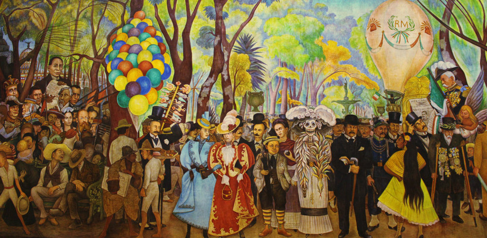"""Detail of """"Dream of a Sunday Afternoon in Alameda Park"""""""